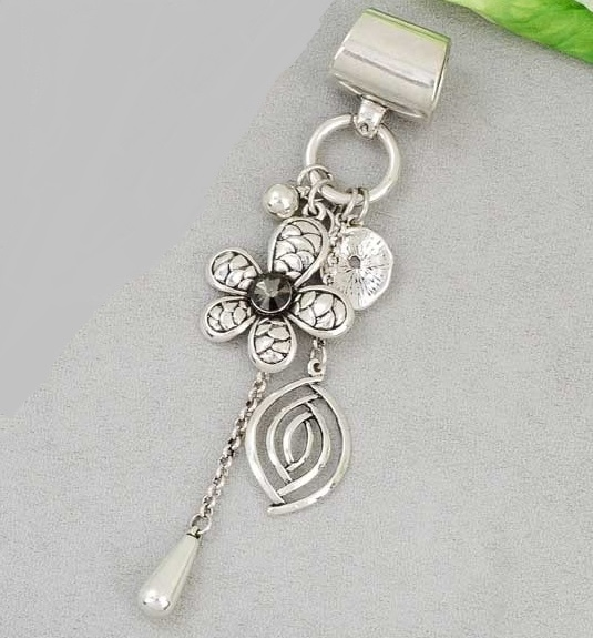 Flower Dangle Scarf Accent
