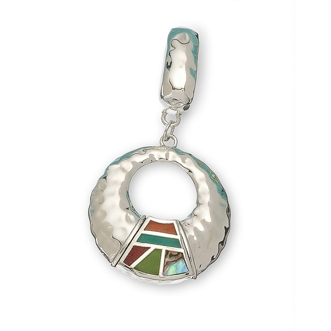 Open Circle with Inlay Scarf Accent