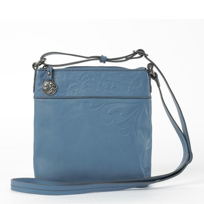 Gracie Blue Leather Cross Body