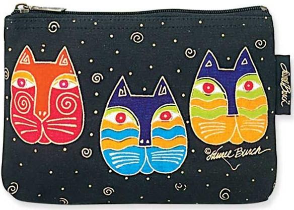 Three Cat Masks Cosmetic Bag