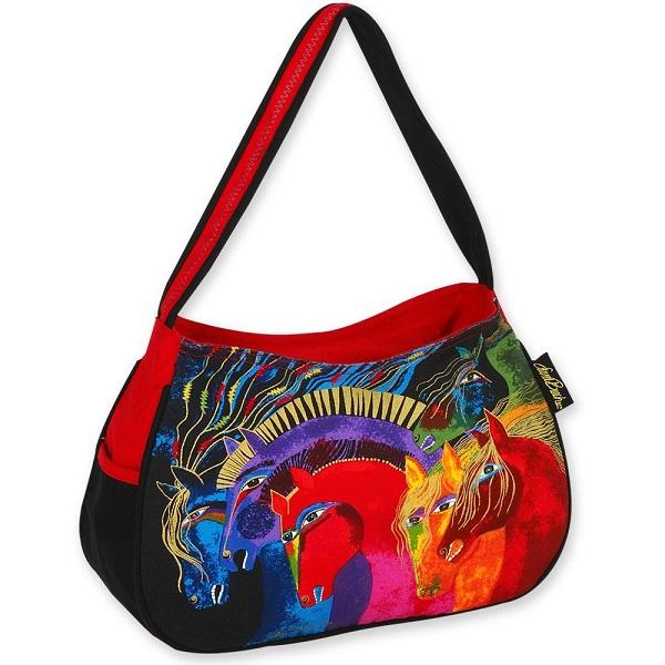 Wild Horses of Fire Medium Hobo Bag