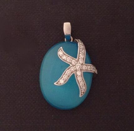 Cateye Starfish Pendant Charm