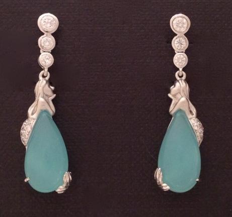 """""""Modest"""" Mermaid Earrings"""