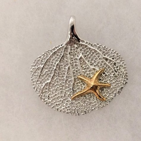 Sea Fan and Starfish Pendant Charm