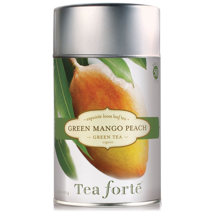 Green Mango Peach Tea Canister