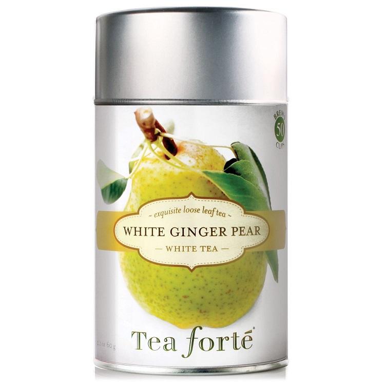 White Ginger Pear Tea Canister