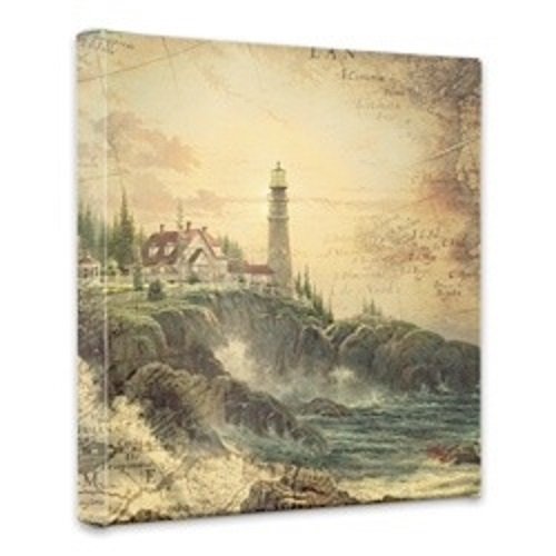 Clearing Storms Map Canvas Wrap