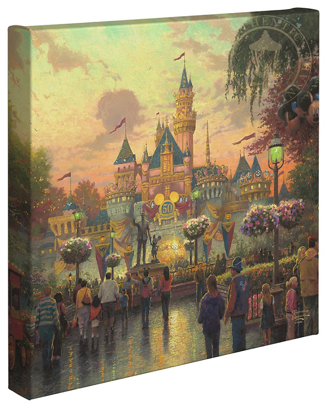 Disneyland 50th Anniversary Canvas Wrap
