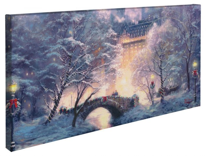 Holiday at Central Park Panoramic Canvas Wrap