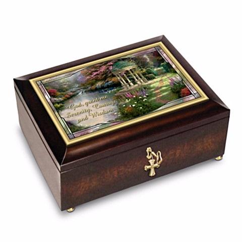 Serenity Prayer Illuminated Heirloom Music Box