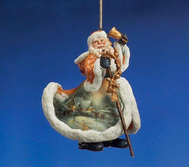 Christmas Welcome Santa Ornament