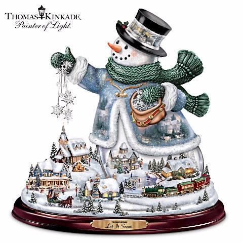 Let It Snow Snowman Village Centerpiece