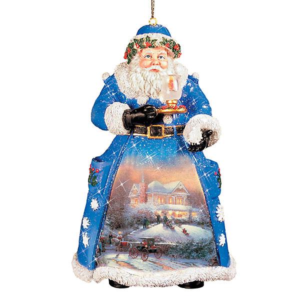 Christmas Night Visit Santa Ornament