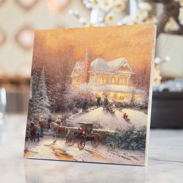 Victorian Christmas II Print on Wood