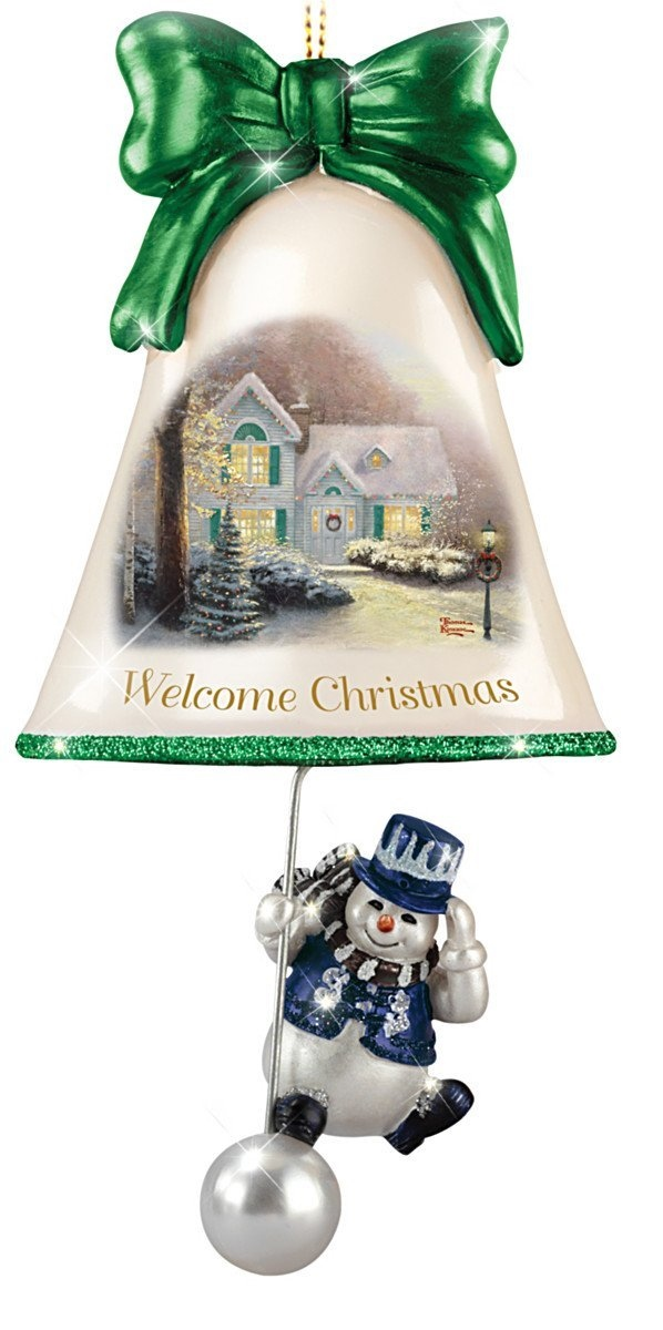 Welcome Christmas Snowman Bell Ornament