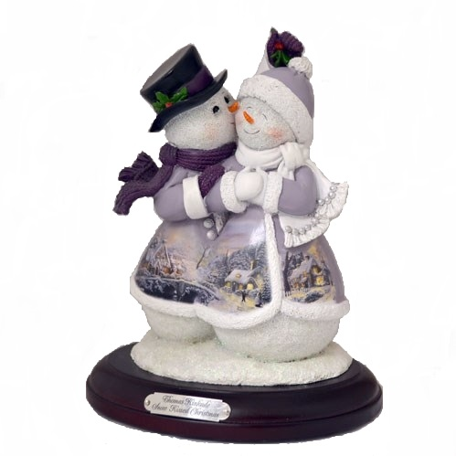 Snow Kissed Christmas Snow Couple
