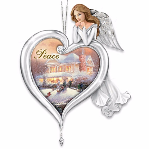 Heartfelt Peace Blessing Angel Ornament