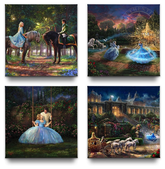 Cinderella Set of 4 Canvas Wraps