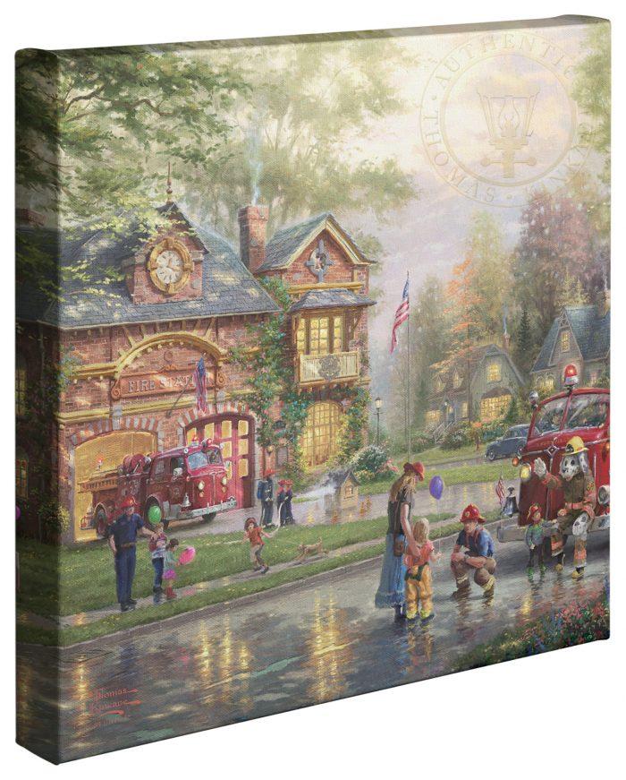 Hometown Firehouse Canvas Wrap