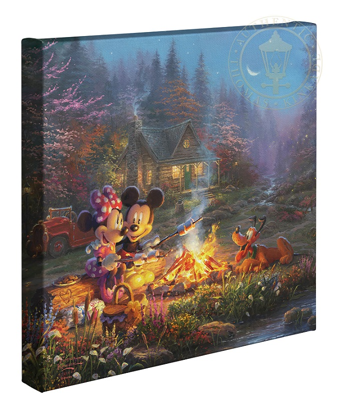 Mickey and Minnie Sweetheart Campfire Canvas Wrap