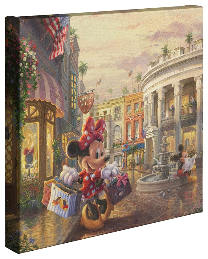 Minnie Rocks the Dots on Rodeo Drive Canvas Wrap