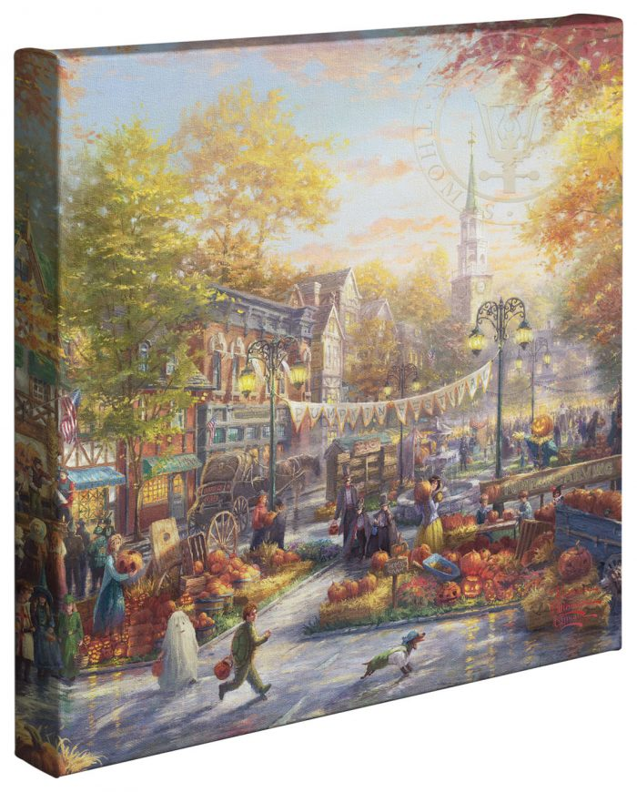The Pumpkin Festival Canvas Wrap