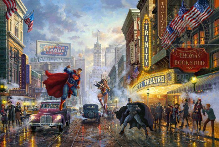 Batman, Superman and Wonder Woman Painting