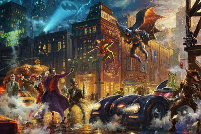 The Dark Knight Saves Gotham City Painting
