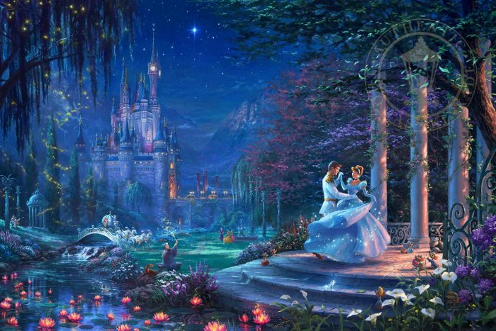 Cinderella Dancing in the Starlight Painting