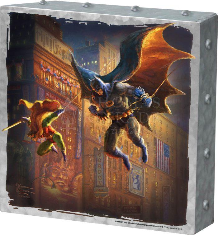 The Dark Knight Saves Gotham City Metal Art Box