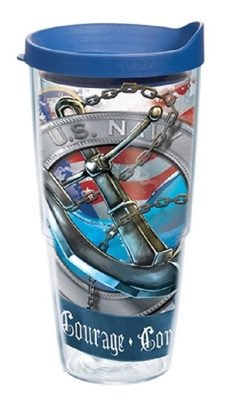 Navy Emblem Tervis - 24 Ounces