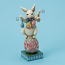 Bunny So Funny on Easter Egg Figurine