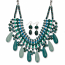 Teal Beaded Collar Necklace & Earring Set