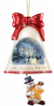 Love, Laughter, Family Snowman Bell Ornament