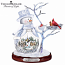 All Hearts Come Home Crystal Snowman