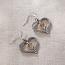 Two Tone Double Heart Earrings