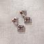 Diamond Quilt Pattern Earrings