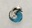 Jumping Dolphin on Blue Wave Pendant Charm