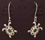 Green Sea Turtle Filigree Dangle Earrings