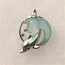 Diving Dolphin Wave with Bubbles Charm