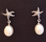 Starfish with Hanging Pearl Earrings