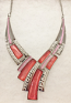 Pink and Fuchsia Weave Necklace