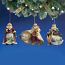 Old World Santa Ornament Set 5