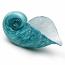 Ocean Blue Spiral Seashell
