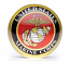 Marine Corps Crystal Paperweight