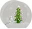 Christmas Tree Glass Votive Candle