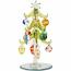"Art Glass Ornaments Tree - 6"" H"