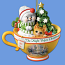 Night Before Christmas Snowman Teacup Ornament