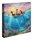 Little Mermaid Falling in Love Canvas Wrap