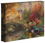 "Mickey & Minnie Sweetheart Central Park 8""x10"" Gallery Wrap"